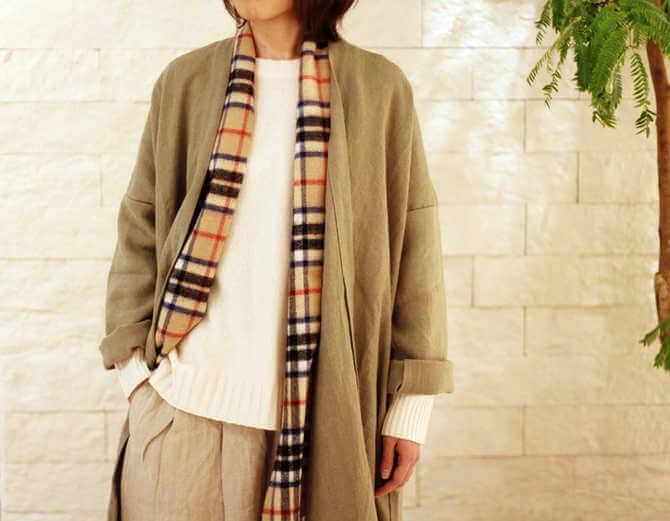 リネンのコート