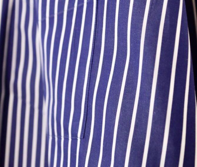 Graphpaper × Thomas mason のシャツ生地表面