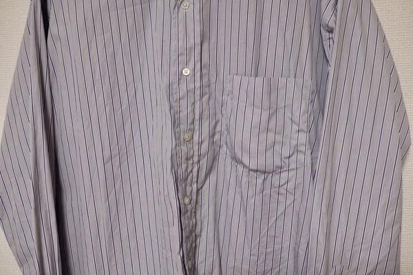洗濯後のGraphpaper × Thomas mason のシャツ