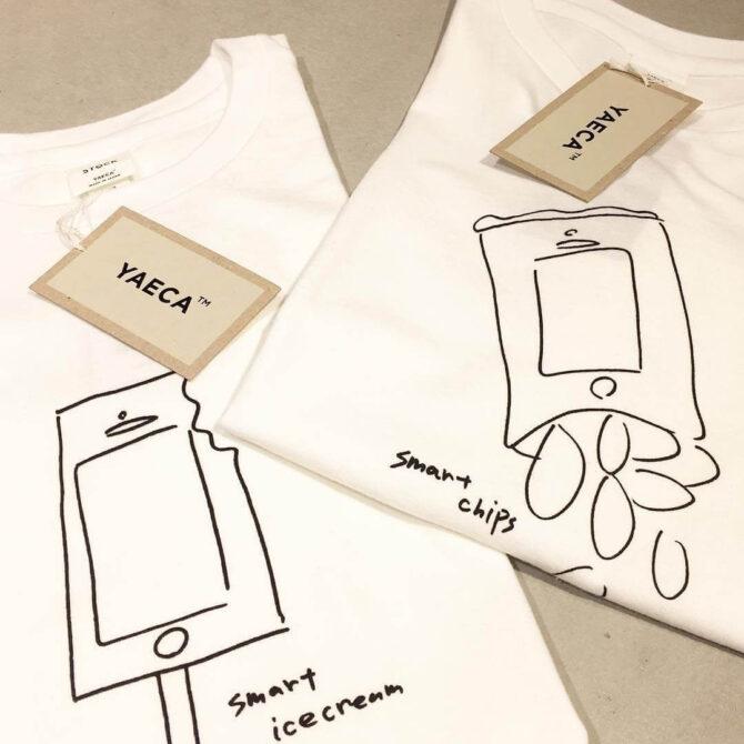 YAECAと加賀美健のコラボTシャツ
