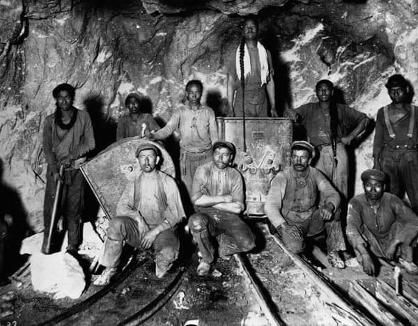 ゴールドラッシュ時代の労働者たち