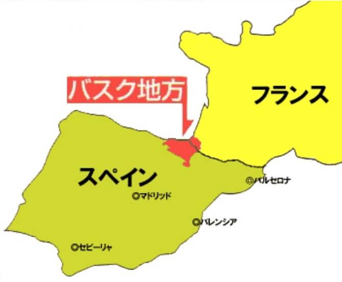 バスク地方の地図