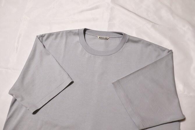 AURALEE ラスタープレーティングTシャツ