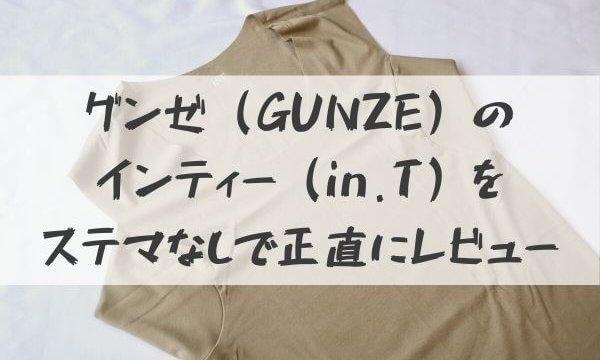 グンゼ(GUNZE)のインティー(in.T)をステマなしで正直にレビュー