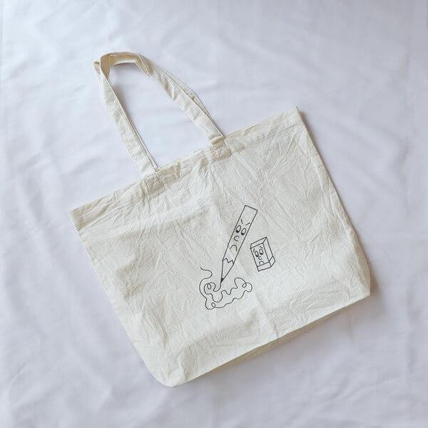 YAECA × ken kagami プリントバッグ