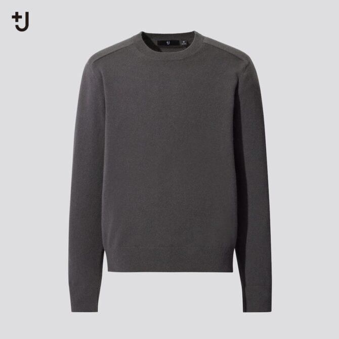 カシミヤブレンドクルーネックセーター(長袖)