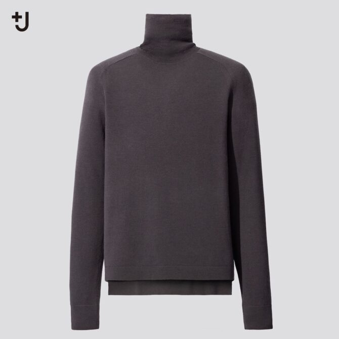 メリノブレンドタートルネックセーター(長袖)