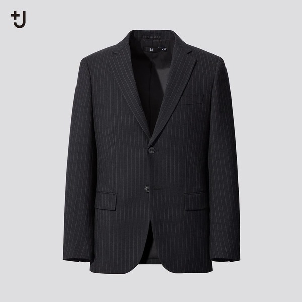 ウールブレンドジャケット(ストライプ) セットアップ可能