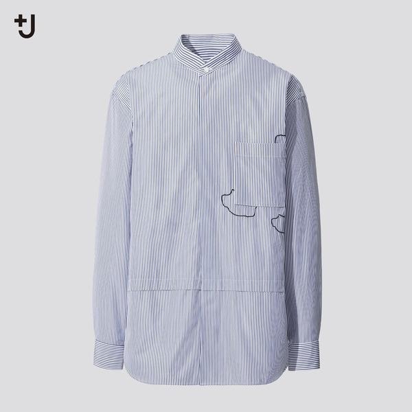 スーピマコットン オーバーサイズシャツ (長袖・雲)