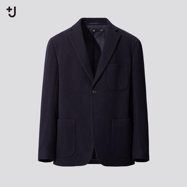 ウールブレンドオーバーサイズジャケット(ヘリンボーン)