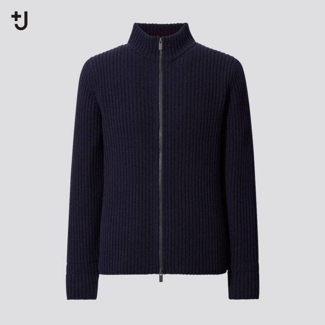 ミドルゲージリブフルジップセーター(長袖)