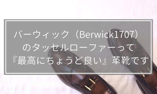 バーウィック(Berwick1707)のタッセルローファーって『最高にちょうど良い』革靴です