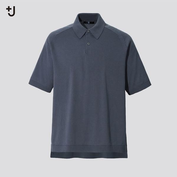 シルクコットンニットポロシャツ(半袖)