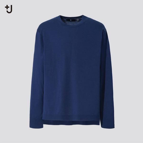 シルクコットンクルーネックセーター(長袖)